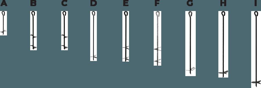 eye auger anchors multi-purpose