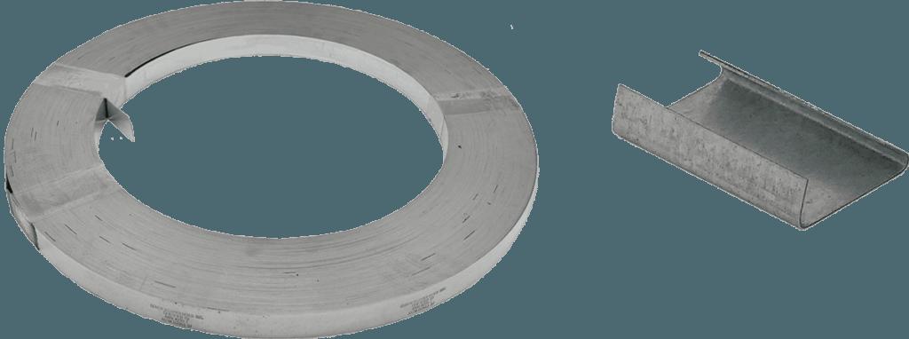 galvanized strapping crimp seals