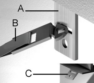 longitudinal connector strap