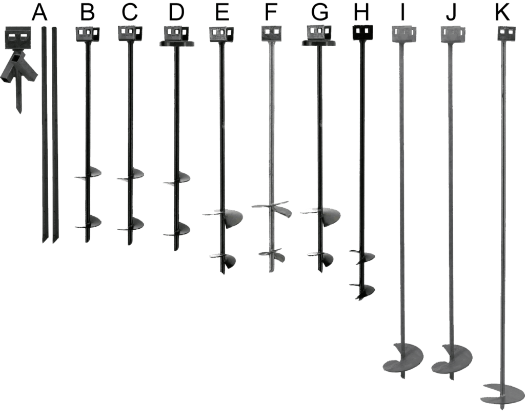 rock earth auger anchors